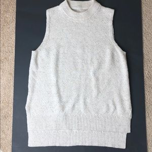 Lou & Grey cream knit sweater tank size small